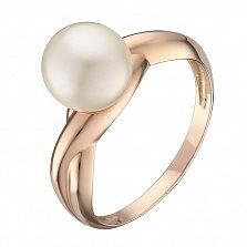 Кольцо в красном золоте Мартина с жемчугом