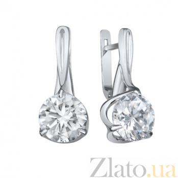 Серебряные серьги Анетти AUR--72835б