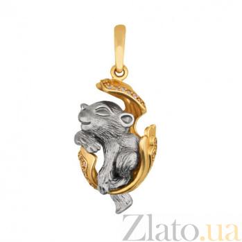 Подвеска Детеныш пантеры из желтого золота VLT--Т3487