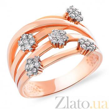 Золотое кольцо с фианитами Модная штучка SUF--152766