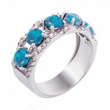 Серебряное кольцо Джульетта с топазом 000011213