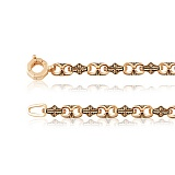 Золотая цепь Кристесс фантазийного плетения
