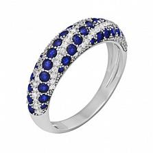 Золотое кольцо с сапфирами и бриллиантами Агнесса