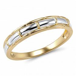 Обручальное кольцо Осень из желтого и белого золота