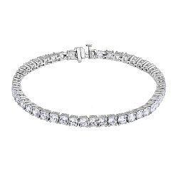 Серебряный браслет с цирконием 000132302