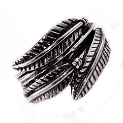Кольцо из серебра Feathers с чернением 000091432