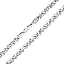 Серебряная цепочка Розамунд в плетении роза, 7 мм