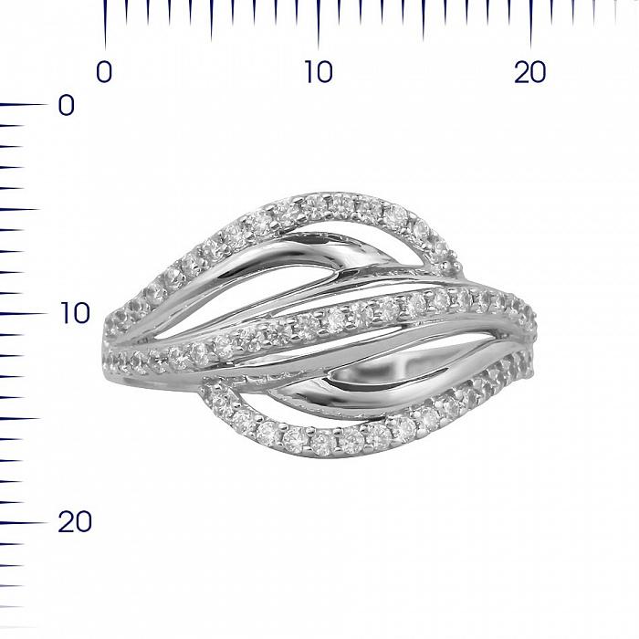 Кольцо из белого золота Джулиана с фианитами 000081329