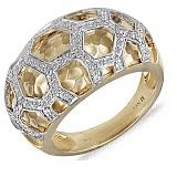 Золотое кольцо Роскошь с бриллиантами
