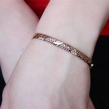 Жесткий золотой браслет Оланта с алмазной гранью