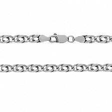 Серебряный браслет с объемными звеньями Александрия, 5,5 мм, 21 см