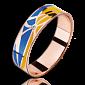 Кольцо из красного золота Молись за Украину с бриллиантами женское PRT--WR1602W
