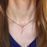 Серебряная подвеска Ключ с алмазной насечкой