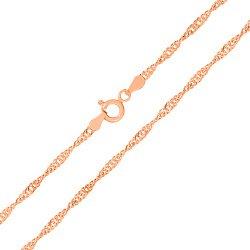 Серебряная цепь с позолотой, 1,5 мм 000026259