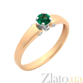 Золотое кольцо Елена с изумрудом VLA--15292