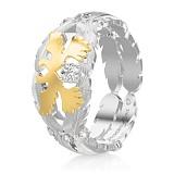 Обручальное кольцо Верность: Душа из белого золота с бриллиантами