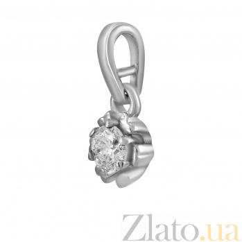 Кулон из белого золота Елена с бриллиантом 000045970