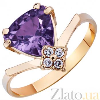 Золотое кольцо с аметистом Лаванда AUR--31523 05