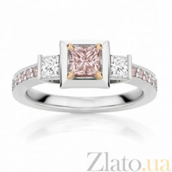 Кольцо Argile из белого золота с бриллиантами и розовыми сапфирами R-cjAr-W-13s-2d