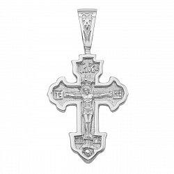 Серебряный крестик с молитвой 000117904