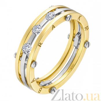 Золотое обручальное кольцо Счастливый союз с камнями Swarovski в стиле Барака 000023946