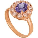 Золотое кольцо с александритом и фианитами Иветта