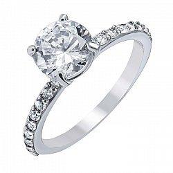 Серебряное кольцо с фианитами 000062840