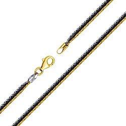 Серебряный многослойный браслет с позолотой и черным родием 000127861