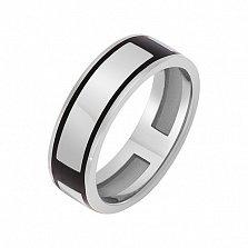 Перстень в белом золоте Атлантика с эмалью