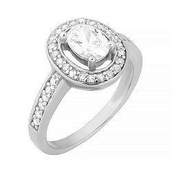 Серебряное кольцо с фианитами 000028297