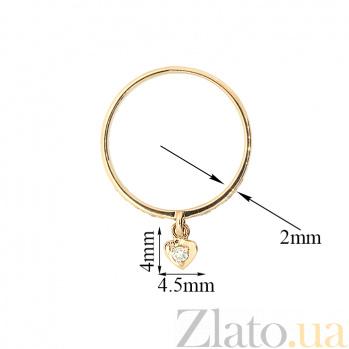 Золотое кольцо в красном цвете с бриллиантами Feeling 000021408