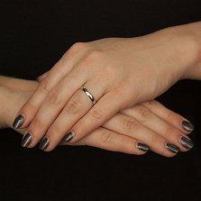 Серебряное обручальное кольцо Элегантность