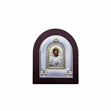 Икона Иисуса Христа из серебра в позолоте