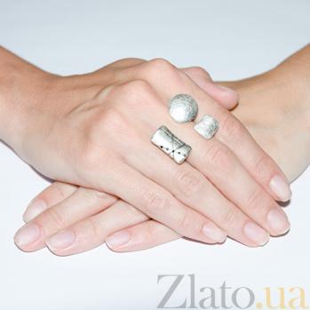 Серебряное кольцо с фианитами Интрига  000006640
