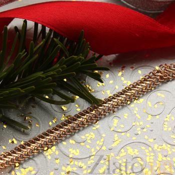 Золотой браслет с алмазной гранью Форд 07281-10-3/01