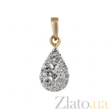 Золотой подвес с бриллиантами Счастливое мгновение 000026519
