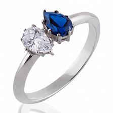 Помолвочное кольцо Josephine с бриллиантом и сапфиром