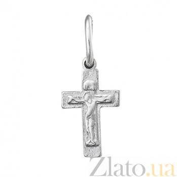 Серебряный крестик Светлый символ 000025369