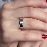 Серебряное обручальное кольцо Европейка