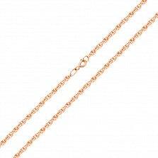 Серебряный  браслет Ребекка в плетении веревка с позолотой