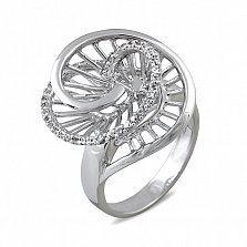 Кольцо из белого золота Эстер с лейкосапфирами