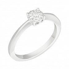 Кольцо в белом золоте Марта с бриллиантами