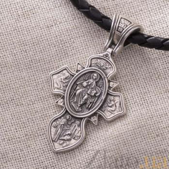 Серебряный крестик Святая Троица и Сергий Радонежский 000080233