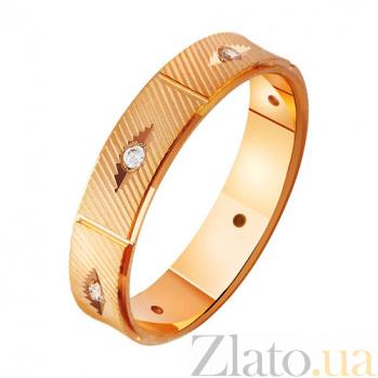Золотое обручальное кольцо с фианитами Бесконечное сияние TRF--412990