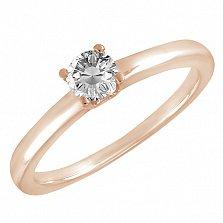 Кольцо в красном золоте Эмма с бриллиантом