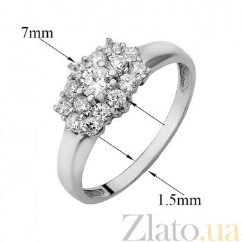Серебряное кольцо с фианитами Патриция 000030711
