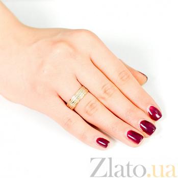 Золотое обручальное кольцо Первый поцелуй 000001633