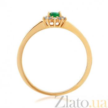 Золотое кольцо с изумрудом и бриллиантами Саманта EDM-КД7550СМАРАГД