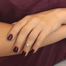 Серебряное кольцо Lucky Style с цирконием в стиле Ван Клиф