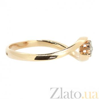 Кольцо из красного золота с бриллиантами Риана 000021458